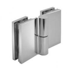 Zawias standardowy lewy 180° (szkło - szkło)