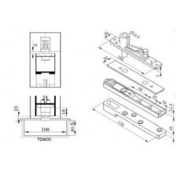 Zestaw akcesoriów do drzwi aluminiowych