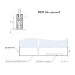 Zest.b - listwa montaż.drm80 z ramieniem dolnym