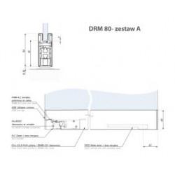 Zest.a - listwa montaż.drm80 z ramieniem i zamkiem