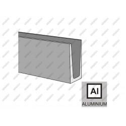 Profil al. do balustrady szklanej imitacja inox a