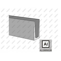Profil aluminiowy al-elox-satin, 1kn -125-46-6000m