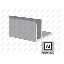Profil balustrady szklanej al- imitacja inox al-in