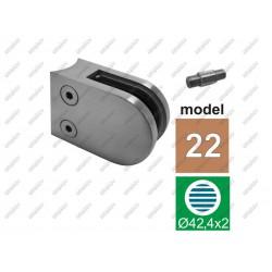 Uchwyt szkła model 22 aisi304, d42,4x2-63x45mm