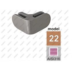 Uchwyt szkła model 22 narożny kwasoodporny aisi316