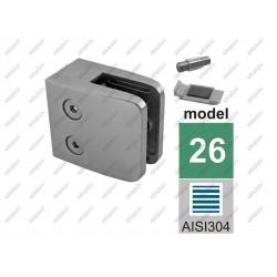 Uchwyt szkła model 24na płasko aisi304, 40x40x2-55
