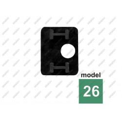 Uszczelka gumowa do uchwytu szkła 10,76mm model 22