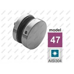Rotula do szkła polerowana aisi304, 40x40x2-d50-h1