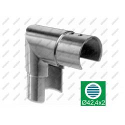 Uchwyt szkla-złączka rury-kolano 90°, d42,4mm