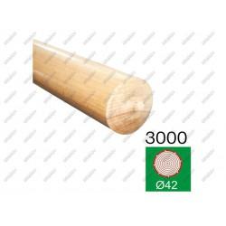 Pochwyt buk buk (beech), d42-l3000mm
