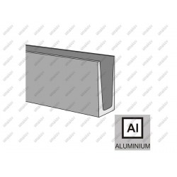 Profil balustrady szklanej Al- Imitacja INOX AL/IN
