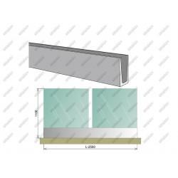 Balustrada całoszklana Al+VSG/ESG AL/16,76/H1100/L