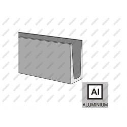 Profil aluminiowy AL/INOX effect/Satin, 1kN-125/46