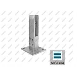 Mocowanie -szklo AISI304, 39x33/100x100/186mm/T12-