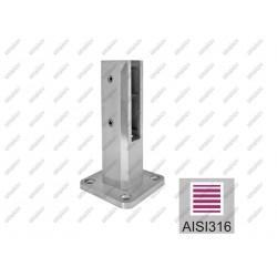 słupek mocujący AISI316, 50x50/98x98/182mm/T12-17,