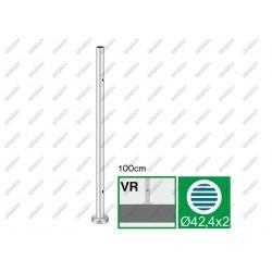 Nerezový stĺpik, vrchné kotvenie - rovné AISI304,