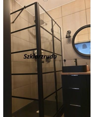 Szklana kabina prysznicowa typu loft